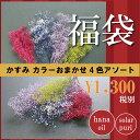 【即納】 プリザーブドフラワー 花材セット かすみ草 4色アソート 詰め合わせ