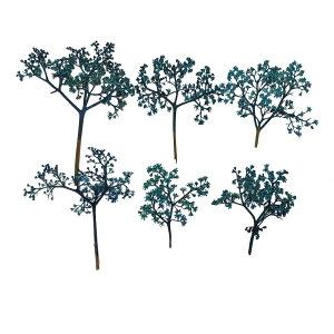 【即納】固まるハーバリウム クリアリウム ニワトコ ターコイズ 12枚 押し花 花 クリスマス リース ツリー 材料 飾り