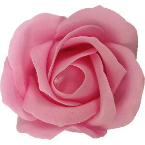 【即納】フレグランス ソープフラワー 花材 ローズ 小 ピンク 1輪 石鹸素材のお花 ソープ フラワー