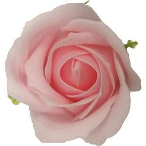 【即納】フレグランス ソープフラワー 花材 ローズ 小 ライトピンク 1輪 石鹸素材のお花 ソープ フラワー