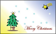 【即納】 メッセージカード カード -3 Merry Christmas プリザーブドフラワー 花材 【あす楽対応_関東】