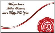 【即納】 メッセージカード カード -5 Wish you have a Merry Christmas and a Happy New Year. プリザーブドフラワー 花材
