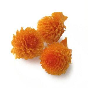 【即納】そらプリ 花材 千日紅・プリザーブド・ヘッド フルーティオレンジ 3輪 小分け 橙 大地農園 あす楽 ハーバリウム ドライフラワー ハンドメイド プレゼント 結婚祝い 誕生日