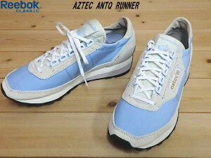 ♪Reebok CLASSIC AZTEC ANTQ RUNNER▼WHITE/BLUE(CM9906)▼リーボック クラシック アズテック アンティークランナー ランニングシューズ(23cm-28cm)