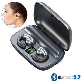 《送料無料》《日本語説明書》《自動ペアリング》ワイヤレスイヤホン bluetooth5.1 ブルートゥース5.1 吊り下げ式 耳 骨伝導 bluetooth イヤホン 両耳イヤホン ブルートゥース イヤホン 通話 音量調整 片耳 iPhone/Android対応 バイノーラルHDコール
