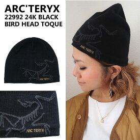 アークテリクス ニット帽 22992 24K BLACK BIRD HEAD TOQUE バードヘッドトーク ビーニー ロゴ メンズ ブラック ARC'TERYX