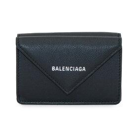 バレンシアガ 三つ折り財布 ミニ財布 PAPER ZA MINI WALLET 391446 DLQ0N 1000 ブラック BALENCIAGA 【ラッピング可能(有料)】