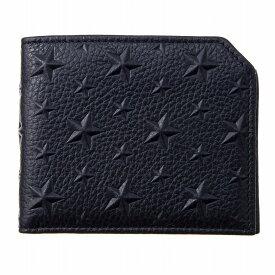 ジミーチュウ 財布 二つ折り財布 ALBANY EMG アルバニー 星型 スタッズ メンズ ネイビー JIMMY CHOO