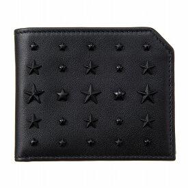 ジミーチュウ 財布 二つ折り財布 ALBANY LXA アルバニー 星型 スタッズ メンズ ブラック JIMMY CHOO【ラッピング可能(有料)】