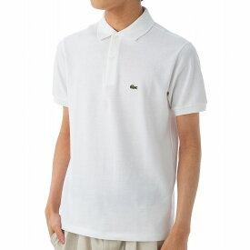 ラコステ ポロシャツ PJ2909 001 ボーイズ 鹿の子 カノコ ワニ ワンポイント 半袖 メンズ ホワイト LACOSTE