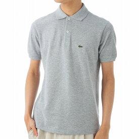ラコステ ポロシャツ PJ2909 CCA ボーイズ 鹿の子 カノコ ワニ ワンポイント 半袖 メンズ グレー LACOSTE