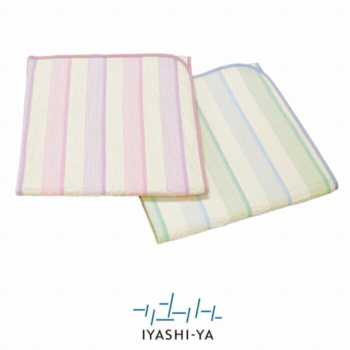 [イヤシヤ]ウォッシャブル麻混パッドシーツ/IY-1801(シングル)100×205cm/送料無料麻敷きパッド薄手サラサラ日本製