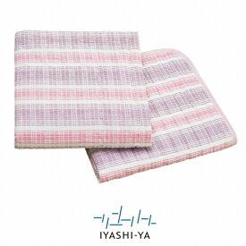 [イヤシヤ]ウォッシャブル麻混すだれ織りパッドシーツ/IY-1803(シングル)約100×205cm/送料無料麻敷きパッドすだれ織通気性涼感日本製