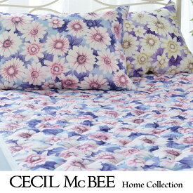 cecil mcbee  セシルマクビー 敷きパッド マーガレット(シングル)ブルー・パープル ブルー