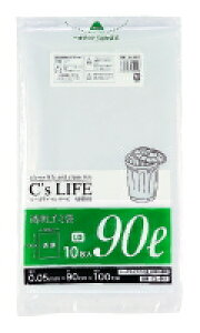 【送料無料】【丈夫なポリエチレン製ゴミ袋(透明)】90L 1ケース200枚(10枚入×20袋) 厚さ0.05mm