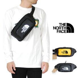 USモデル ノースフェイス ボディーバッグ イエロー ブラック メンズ 男性 レディース 女性 スリング 鞄 小物 アウトドア ショルダーバッグ 斜めがけバッグ THE NORTH FACE Explore Hip Pack