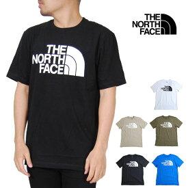 ノースフェイス 半袖Tシャツ メンズ ハーフームロゴ TEE レディース S M L XL XXLサイズ ホワイト ブラック べージュ オリーブ ブルー 白 黒 青 USモデル 大きいサイズ THE NORTH FACE SHORT SLEEVE HALF DOME TEE