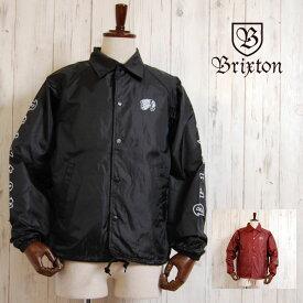 BRIXTON ブリクストン コーチジャケット PRIMO JACKET BURGUNDY BLACK WHITE ナイロンジャケット ウィンドブレーカー アウター バーガンディ ブラック 黒 レディース メンズ 男性 女性 ストリート ヒップホップ
