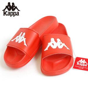 カッパ KAPPA スライダー サンダル AUTHENTIC ADAM 2 SLIDE RED ORANGE WHITE シャワーサンダル ルームサンダル 靴 メンズ 男性 レディース 女性 レッド 赤 オレンジ ホワイト 白