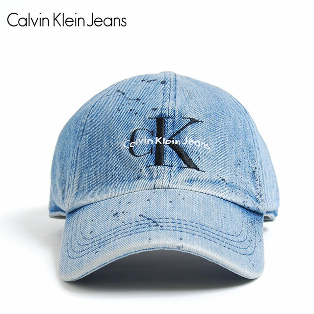 Calvin Klein Jeans カルバン クライン ジーンズ DENIM HAT LOGO SNAPBACK CAP 892 GARAGE PAINT アジャスター キャップ ロゴ ガレージ ペイント デニム インディゴ 青 帽子 小物 アクセサリー メンズ 男性 レディース 女性 ブランド