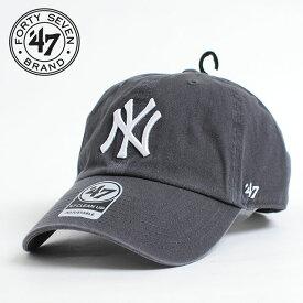 5150b017dd9  送料無料 MLB公認ライセンスブランド 47BRAND 47ブランド YANKEES CLEAN UP CAP グレー