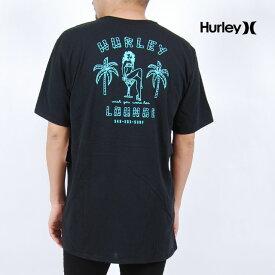 USモデル ハーレー 半袖Tシャツ HURLEY DRI FIT LOUNGE SS TEE BLACK ドライ フィット ラウンジ プリント トップス ヤシの木 ブラック 黒 メンズ 男性 レディース 女性 ハーレイ