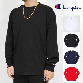 チャンピオン 無地 長袖Tシャツ ホワイト ブラック メンズ レディース S M L XL XXLサイズ CHAMPION LONG SLEEVE TEE BLACK NAVY RED WHITE トップス ネイビー レッド ホワイト 大きいサイズ メンズ レディース 097 USモデル 送料無料