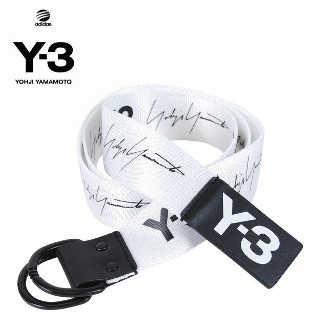 Y-3(adidas×Yohji Yamamoto) Y3 YOHJI BELT BLACK WHITE ワイスリー アディダス ヨージヤマモト ロゴ リング ベルト ブラック 黒 ホワイト 白 メンズ 男性 レディース 女性 小物 アクセサリー ストリート ワンポイント