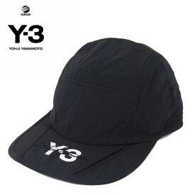 Y-3(adidas×Yohji Yamamoto) Y3 FOLDABLE CAP BLACK ワイスリー アディダス ヨージヤマモト ロゴ プリント ワーク キャップ ベルクロ アジャスター ブラック 黒 メンズ 男性 小物 帽子 アクセサリー ストリート ワンポイント