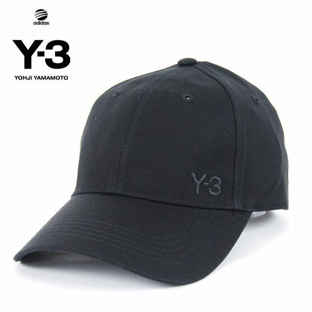 Y-3(adidas×Yohji Yamamoto) Y3 LOGO CAP BLACK ワイスリー アディダス ヨージヤマモト ロゴ 刺繍 キャップ ベルクロ アジャスター ブラック 黒 メンズ 男性 小物 帽子 アクセサリー ストリート ワンポイント