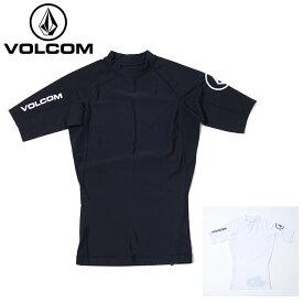 USモデル ボルコム ラッシュガード VOLCOM LIDO SOLID S/S 半袖 UV対策 紫外線対策 トップス ブラック ホワイト 黒 白 メンズ 男性 レディース 女性 サーフシャツ UVカット 海 川 プール 水着 釣り アウトドア キャンプ  ヴォルコム XS S M L XLサイズ