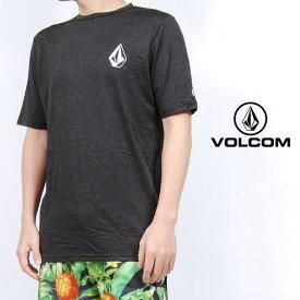 USモデル ボルコム ラッシュガード VOLCOM STONE HEATHER S/S ルーズフィット 半袖 UV対策 紫外線対策 トップス チャコール ロゴ メンズ 男性 レディース 女性 サーフシャツ UVカット 海 川 プール 水着 Tシャツ ヴォルコム S M L XLサイズ