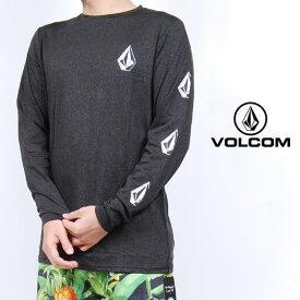 USモデル ボルコム ラッシュガード VOLCOM DEADLY STONES L/S ルーズフィット 長袖 UV対策 紫外線対策 トップス チャコール ロゴ メンズ 男性 レディース 女性 サーフシャツ UVカット 海 川 プール 水着 Tシャツ ヴォルコム S M L XLサイズ
