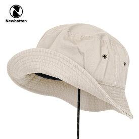 バケットハット メンズ レディース NEWHATTAN BUCKET HAT ニューハッタン コットン 男性 女性 小物 アクセサリー 帽子 キャップ ハット フェス アウトドア 釣り キャンプ KHAKI カーキ