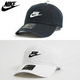 【USモデル】NIKE ナイキ CAP ローキャップ LOW CROWN DAD HAT カーブ ストラップバック ロークラウン 6パネル キャップ SWOOSH スウォッシュ 刺繍 帽子 ブラック 黒 ホワイト 白 メンズ 男性 レディース 女性