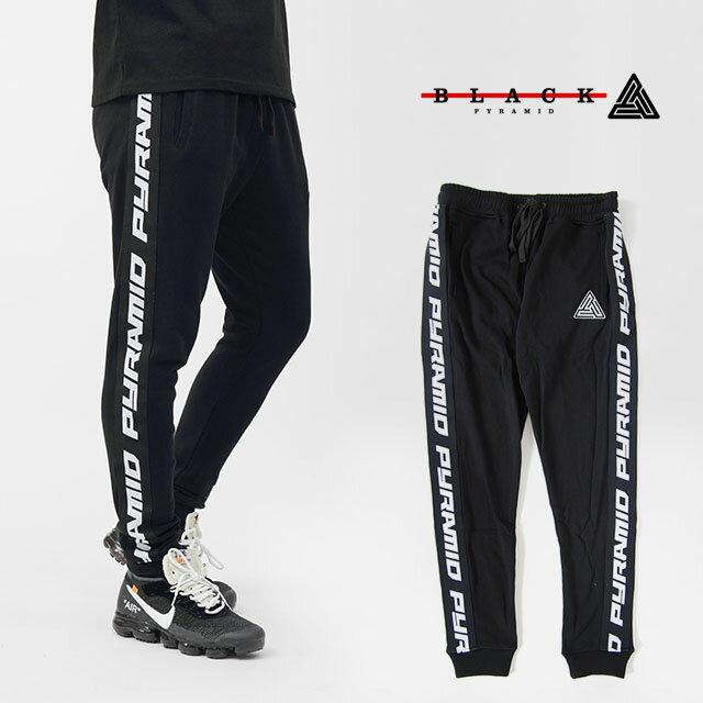 【送料無料】BLACK PYRAMID ブラックピラミッド Sweat Pant Side Logo BLACK スウェット パンツ サイド ロゴ ブラック 黒 メンズ 男性 レディース 女性 BlackPyramid