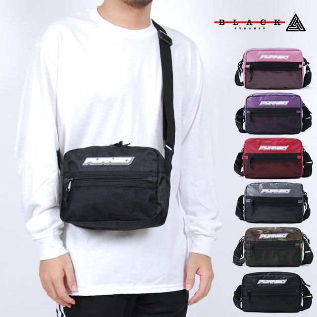 BLACK PYRAMID ブラックピラミッド バッグ TECH SHOULDER BAG ブラック パープル レッド シルバー ピンク カモ 黒 紫 赤 銀 迷彩 ショルダーバッグ ボディーバッグ 斜めがけバッグ 鞄 男性 女性 メンズ レディース BLACKPYRAMID A5サイズ対応 パパバック