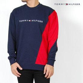 トミーヒルフィガー ロンT 長袖 メンズ S M L XLサイズ トレーナー ネイビー レッド レディース Tシャツ ルームウェア スリープウェア 薄手 TOMMY HILFIGER USモデル スウェットシャツ 裏毛 パイル