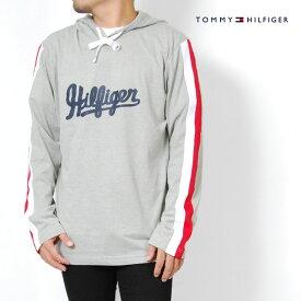 トミーヒルフィガー ロンT パーカー メンズ S M L XLサイズ グレー レディース 長袖Tシャツ ルームウェア スリープウェア 薄手 プリントロゴ TOMMY HILFIGER USモデル