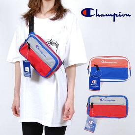 USモデル CHAMPION チャンピオン バッグ COLOR BLOCK WAIST PACK BAG カラー ブロック ウエストポーチ ウエストバッグ ボディーバッグ ロゴ刺繍 鞄 バック グレー マルチ レッド 赤 ブルー 青 オレンジ ホワイト 白 ブライト コンボ メンズ 男性 レディース 女性