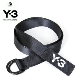 Y-3(adidas×Yohji Yamamoto) Y3 LOGO BELT BLACK ワイスリー アディダス ヨージヤマモト ロゴ リングベルト ブラック 黒 メンズ 男性 レディース 女性 小物 アクセサリー ストリート ワンポイント S M L サイズ