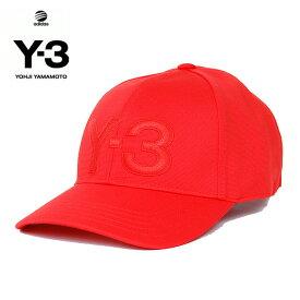 Y-3(adidas×Yohji Yamamoto) Y3 LOGO CAP RED ワイスリー アディダス ヨージヤマモト ロゴ 刺繍 キャップ ベルクロ アジャスター レッド 赤 メンズ 男性 小物 帽子 アクセサリー ストリート ワンポイント