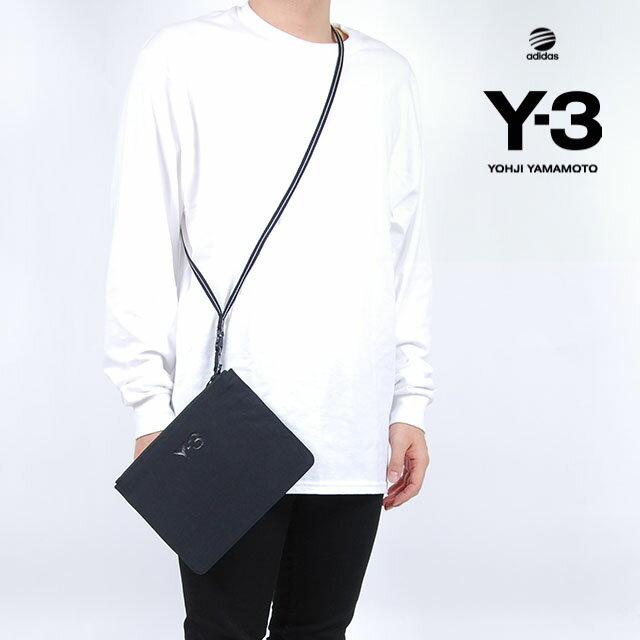 Y-3(adidas×Yohji Yamamoto) Y3 POUCH BLACK ワイスリー アディダス ヨージヤマモト ロゴ ポーチ ブラック 黒 メンズ 男性 小物 バック 鞄 アクセサリー ストリート ワンポイント