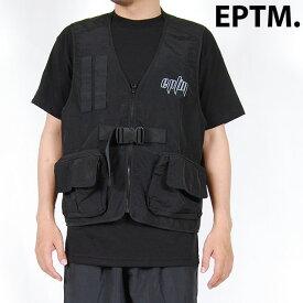 EPTM エピトミ TACTICAL VEST BLACK タクティカルベスト リフレクター ナイロン アウター ブラック 黒 ミリタリー チェストリグ フィッシングベスト アウトドア キャンプ 釣り ワークベスト eptm