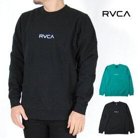 RVCA ルーカ センタークルー クルーネック トレーナー メンズ レディース S M L XLサイズ ブラック グリーン CENTER CREW スウェット 裏起毛 USモデル