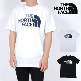 USモデル ノースフェイス Tシャツ 半袖Tシャツ THE NORTH FACE S/S HALF DOME TEE BLACK WHITE ブラック 黒 ホワイト 白 ハーフ ドーム ロゴ メンズ 男性 レディース 女性 NORTHFACE S M L XL XXLサイズ
