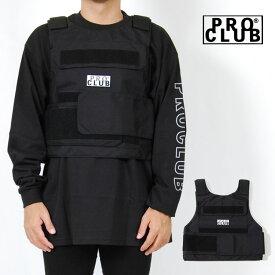 PRO CLUB プロクラブ ミリタリー ベスト ブラック メンズ ストリート ワンサイズ ブラック 黒 PROCLUB PLATE CARRIER VEST BLACK
