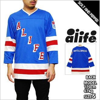 ALIFE HOME TEAM JERSEY WHITE RED BLUE TOPS a life home team hockey Jerzy red red white white blue blue tops long sleeve mens ladies men female HIPHOP hip hop dance Dancer Costume sports