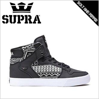 SUPRA Supra运动鞋FOOTWEAR CROWN VAIDER BLACK WHITE supurafuttoueabeidaburakku黑白白人男性女士女性溜冰鞋鞋街道溜冰休闲名牌高cut S28248