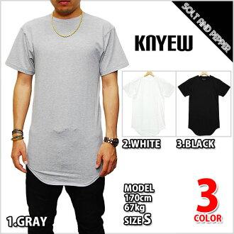 KNYEW E-LONG T-SHIRTS GRAY WHITE BLACK new E long long length T-shirt gray white black light gray black short sleeves tops men man Lady's woman fashion Japan non-release BACK ORDER
